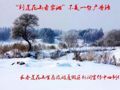 莲花山雾凇美景
