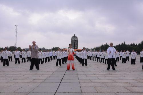 全民健身日,中外杨式太极拳友长春切磋拳艺