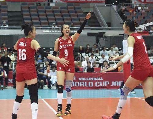 女排世界杯赛 中国女排十一战全胜!骄傲!!!