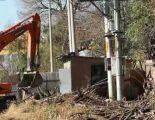 吉林市龙潭区拆除违建10处 面积达1000平米左右