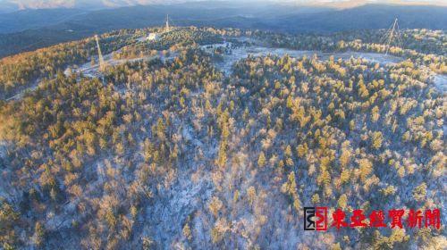 延边仙峰森林公园出现高山雾凇景观