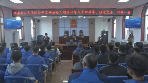 (扫黑除恶 吉林亮剑)辉南县人民法院公开宣判胡国仁等5人涉恶势