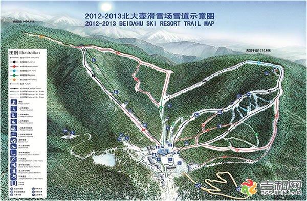 吉林北大壶滑雪度假区雪道示意图