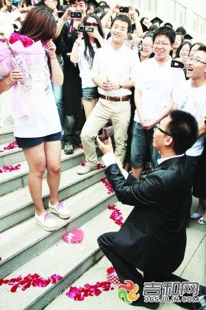 男生拿着玫瑰花求婚头像
