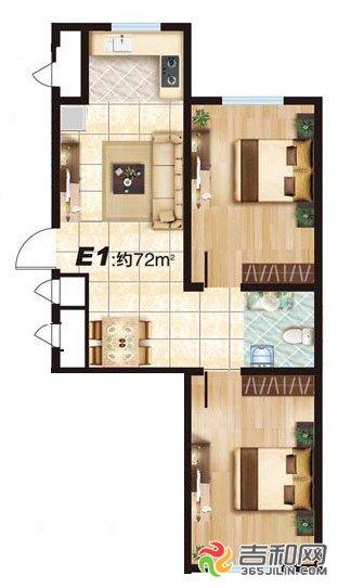 比如三面朝阳户型华大城项目产品的均价为5100元/平方米68平米的