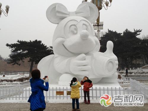 雪雕图片动物乌龟
