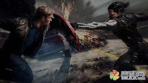 """《美国队长2》概念图""""美国队长""""vs""""冬日战士""""巴基"""