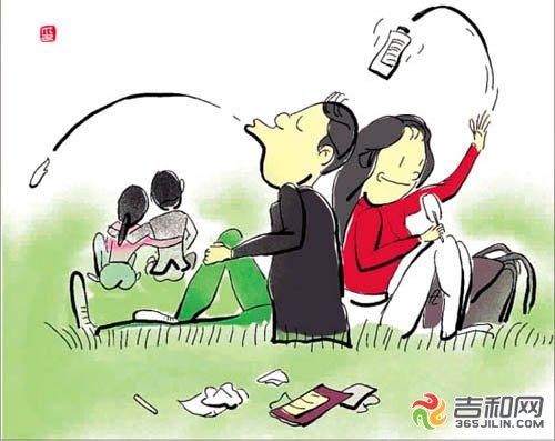 幼儿园喝水礼仪卡通
