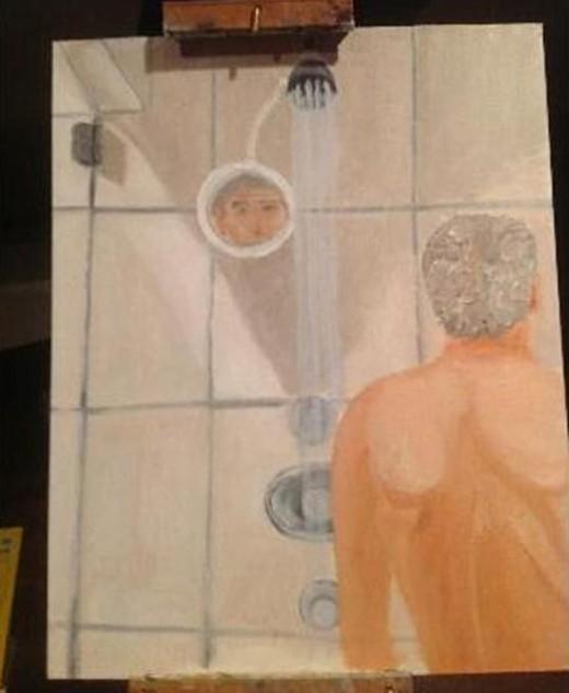 小布什裸体沐浴自画像曝光 欲画19国领导人肖像